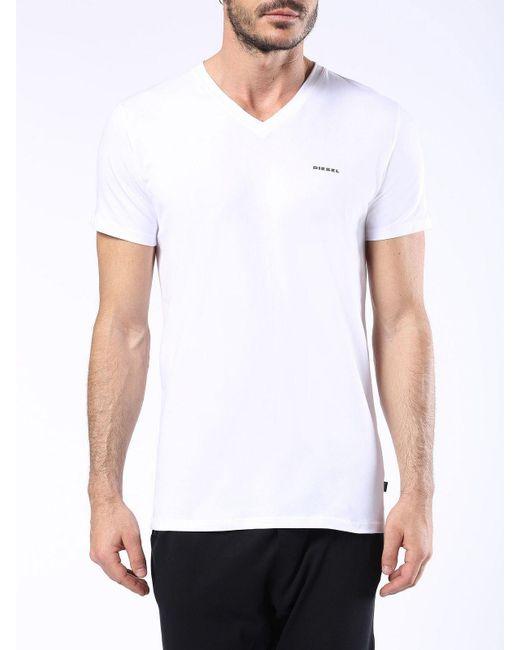 DIESEL | White Umtee-michael3pack for Men | Lyst