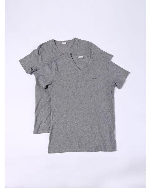 DIESEL - Gray Umtee-michael2pack for Men - Lyst