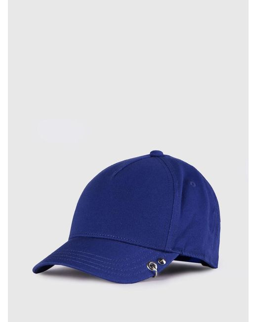 99d4677125b51 ... DIESEL - Blue Baseball Cap With Embroidered Logo for Men - Lyst ...
