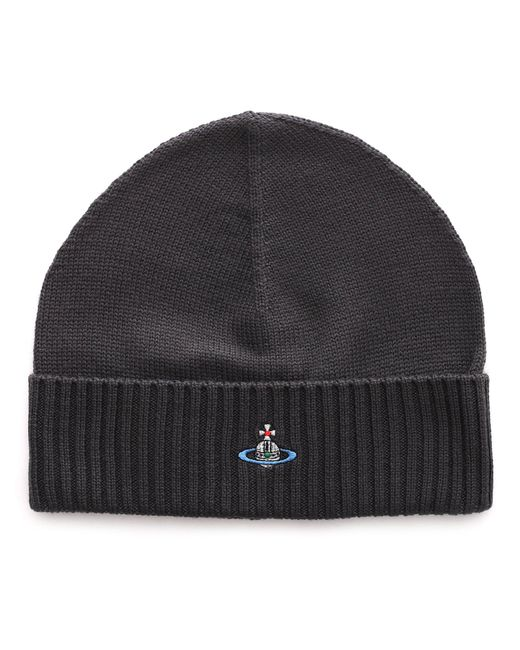 Vivienne Westwood - Gray Logo Embroidered Ribbed Beanie for Men - Lyst ... 9d064cff3f8f