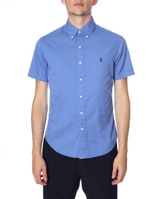Polo Ralph Lauren - Men's Slim Fit Short Sleeve Sport Shirt Deep Blue for Men - Lyst