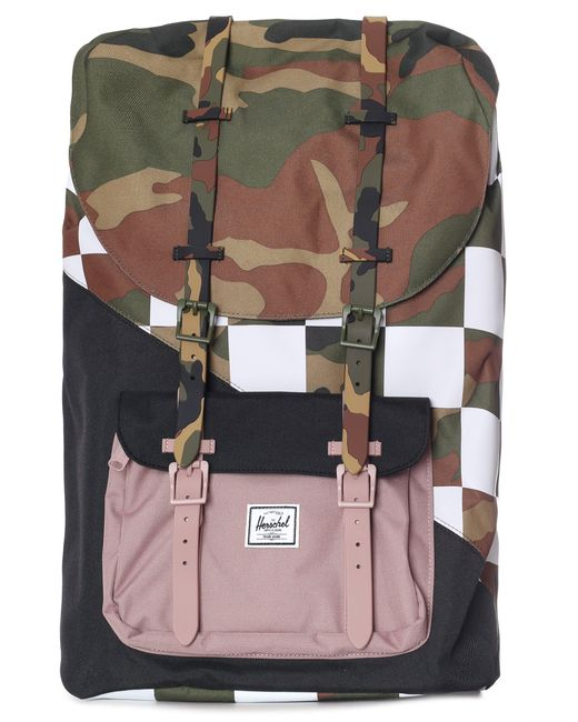 Herschel Supply Co. - Multicolor Little America Backpack Woodland Camo/ash Rose/checker for Men - Lyst