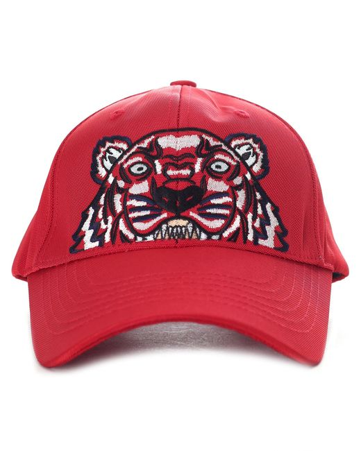 KENZO - Men's Tiger Canvas Cap Medium Red for Men - Lyst