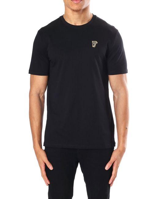 481167098 Versace - Men's Medusa Badge Crew Neck Short Sleeve T-shirt Black for Men  ...
