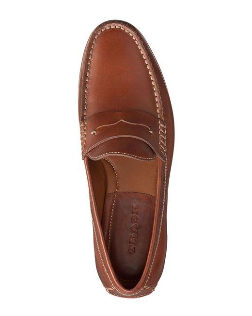 65b5d88ba37 ... Lyst Trask - Brown Men s Sadler American Steer Penny Loafers for Men ...