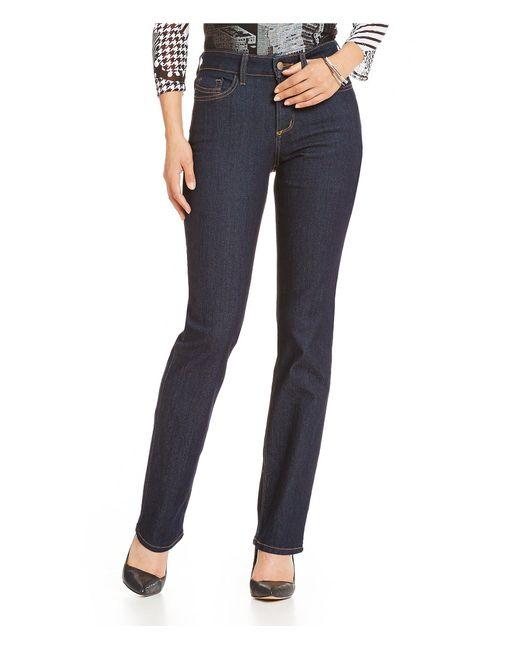 NYDJ - Blue Marilyn Straight-leg Jeans - Lyst