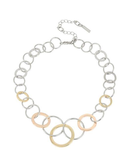 Kenneth Cole - Metallic Tri-tone Geometric Circle Link Collar Necklace - Lyst