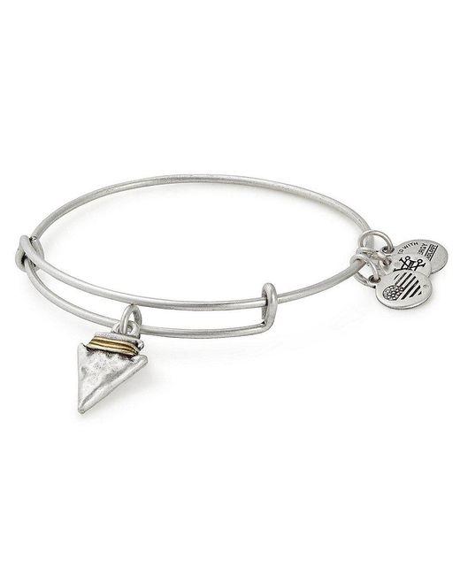ALEX AND ANI | Metallic Arrowhead Charm Bangle Bracelet | Lyst