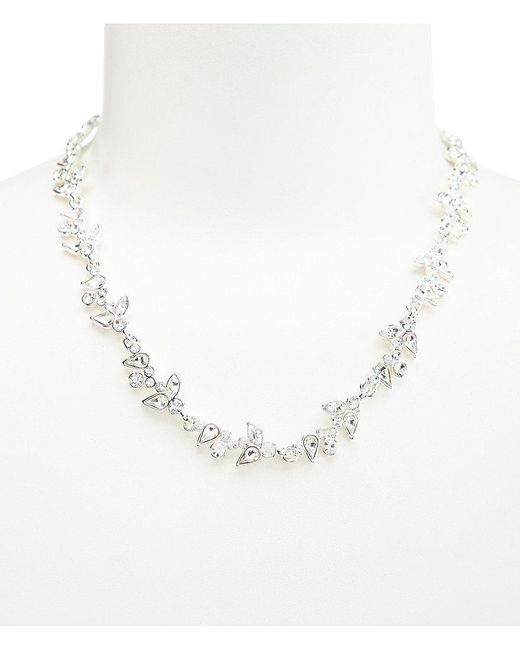 Givenchy - Metallic Crystal Flower Collar Necklace - Lyst