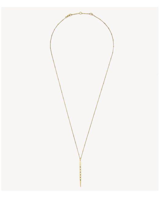 Sole Society - Metallic Single Stick Necklace - Lyst