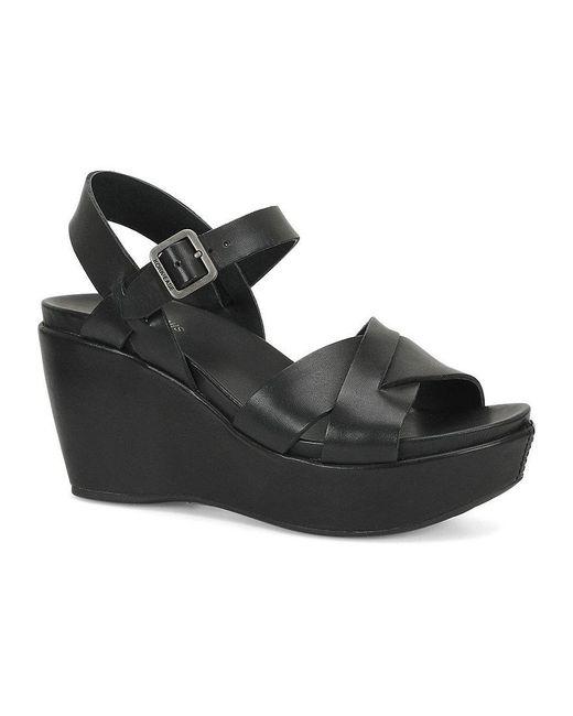 Kork-Ease | Black Ava 2.0 Ankle-strap Wedge Sandals | Lyst
