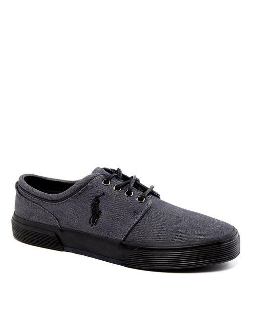 Polo Ralph Lauren - Gray Faxon Low Casual Denim Sneakers for Men - Lyst