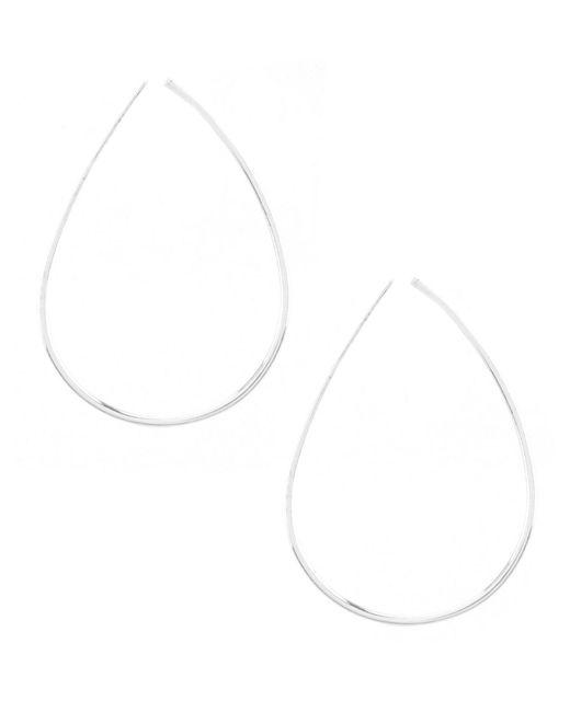 Lauren by Ralph Lauren - Metallic Silver Metal Threader Earrings - Lyst