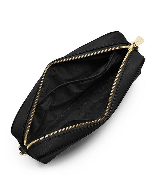 303e59c6f4 ... MICHAEL Michael Kors - Black Jet Set Large Saffiano Leather Crossbody -  Lyst ...