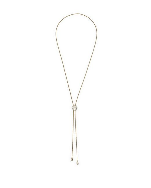Vince Camuto - Metallic Goldtone Pavé Slider Necklace - Lyst