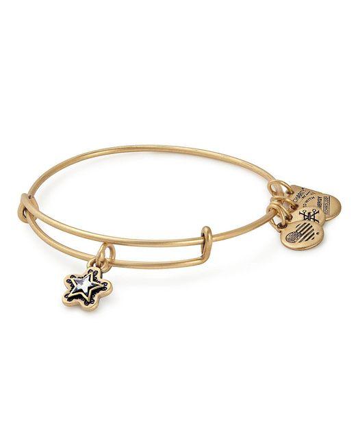 ALEX AND ANI - Metallic True Wish Charm Bangle Bracelet With Swarovski Crystal - Lyst