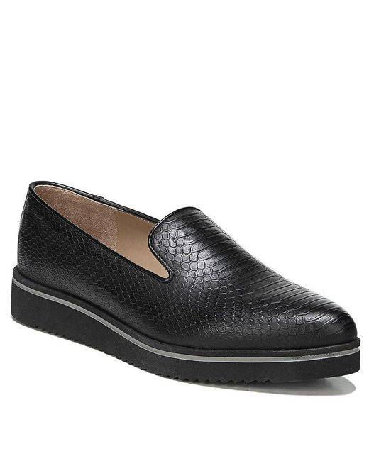 Franco Sarto | Black Fabrina Snake Embossed Loafers | Lyst