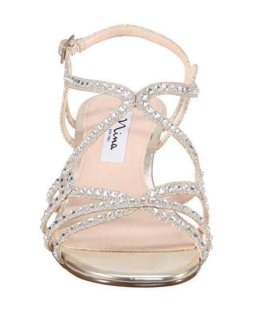 Nina Finola Glitter Ankle Strap Wedge Sandals zPw172S
