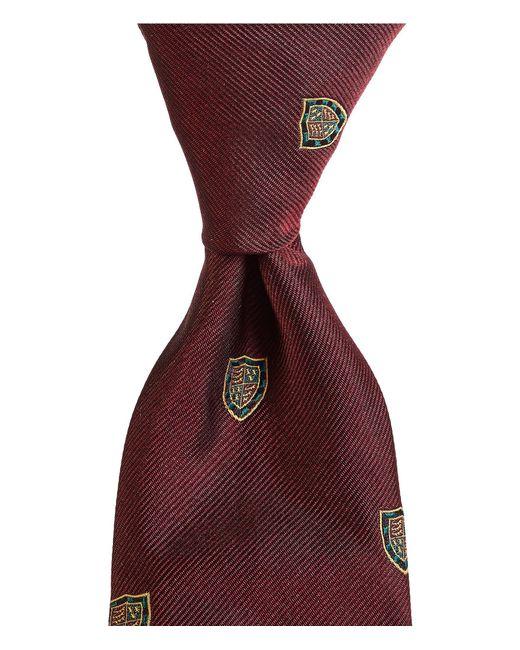 "Polo Ralph Lauren - Red Hab Shop Club Narrow 3"" Silk Tie for Men - Lyst"