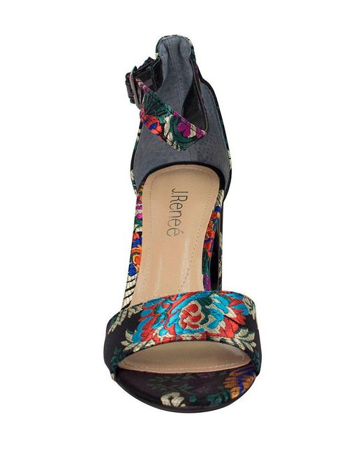 Flaviana Floral Satin Dress Sandals MlyDrYAA