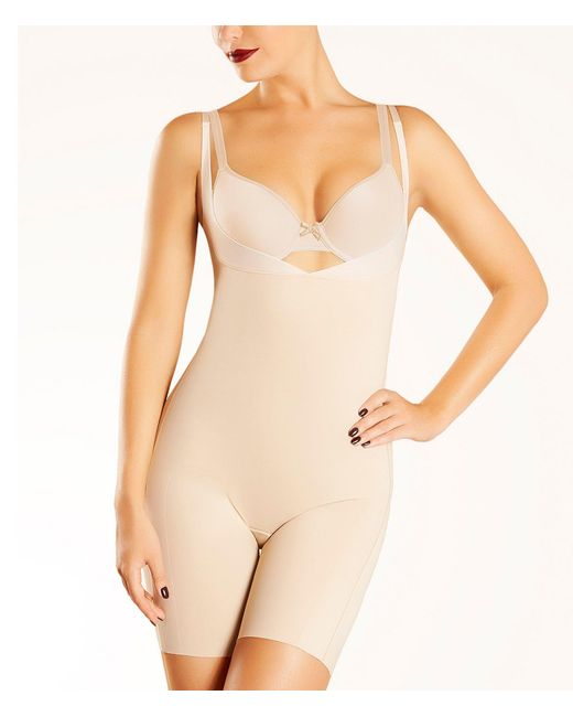 Chantelle Natural Basic Shaping Open-bust Bodysuit