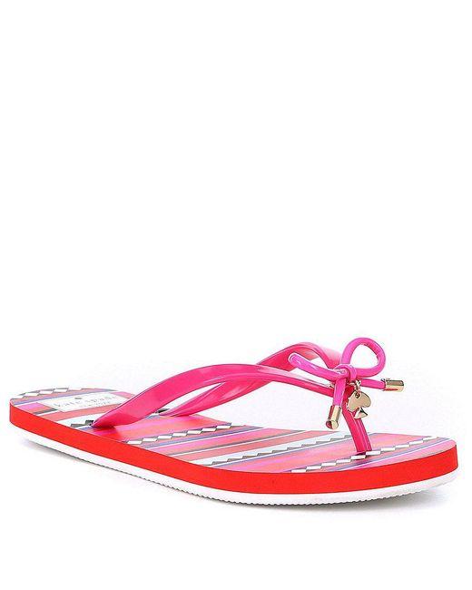 Kate Spade | Pink Nova Flip Flops | Lyst