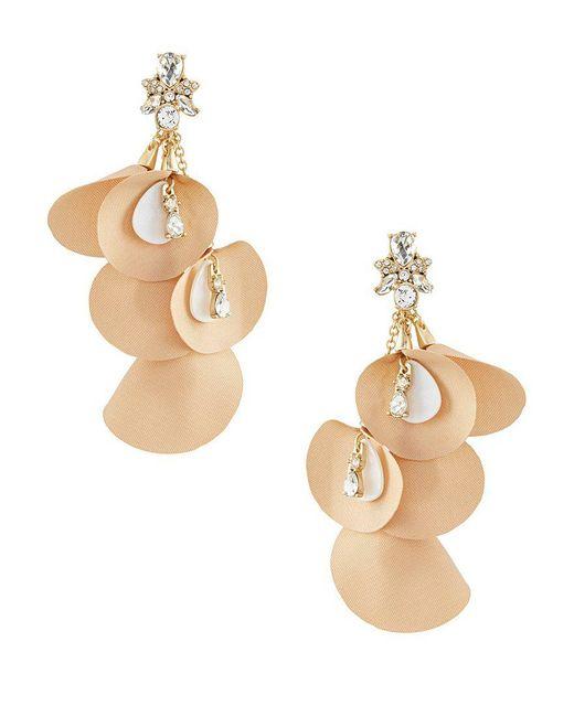 Belle By Badgley Mischka   Metallic Cluster Fancy Petals Earrings   Lyst