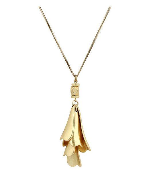 Lucky Brand - Metallic Petal Pendant Necklace - Lyst