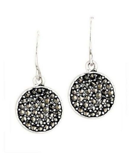 Kenneth Cole - Metallic Marcasite Paddle Earrings - Lyst