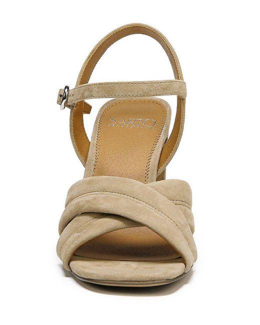 Franco Sarto Sarto by Franco Sarto Kristina Suede Ankle Strap Block Heel Dress Sandals ZEC5U