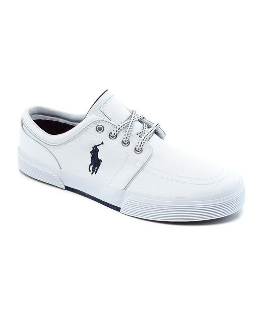 Polo ralph lauren Faxon Low Casual Sneakers in White for ...