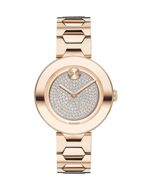 Movado Bold - Metallic Light Carnation Pink Stainless Steel Mid-size Watch - Lyst