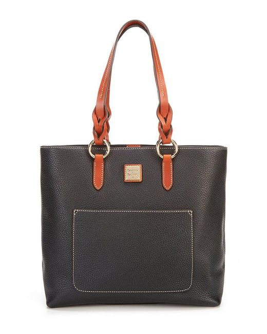 Dooney & Bourke - Black Pebble Collection Pammy Colorblock Tote - Lyst