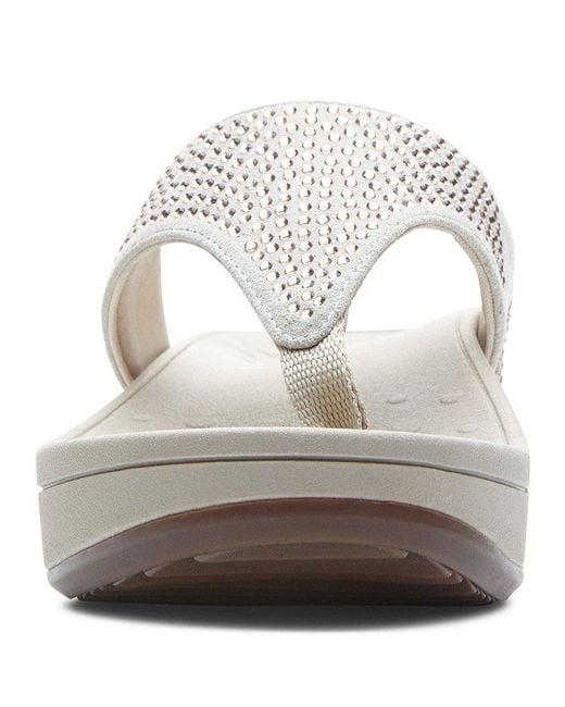 Naples Rhinestone Sparkle Wedge Thong Sandals 13l8xRAiTw