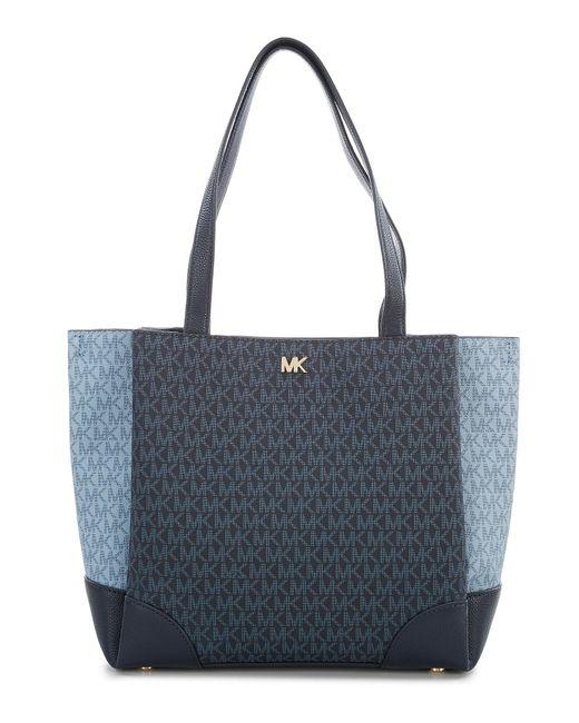 MICHAEL Michael Kors - Blue Gala Medium Colorblock Tote - Lyst