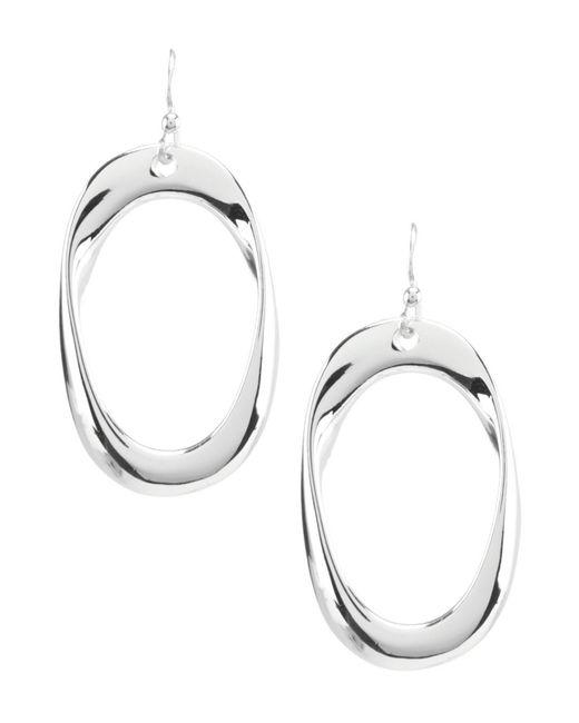 Dillard's - Metallic Open Organic Oval Drop Earrings - Lyst