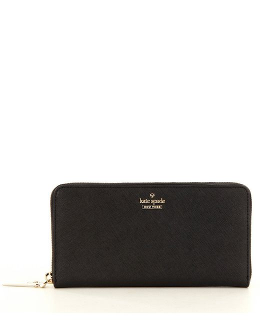 Kate Spade - Black Cameron Street Collection Lacey Zip-around Wallet - Lyst