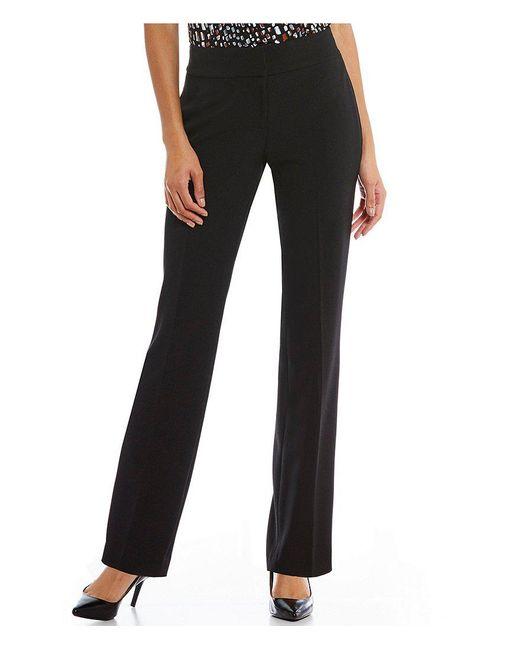 Kasper - Black Solid Crepe Slim Pant - Lyst