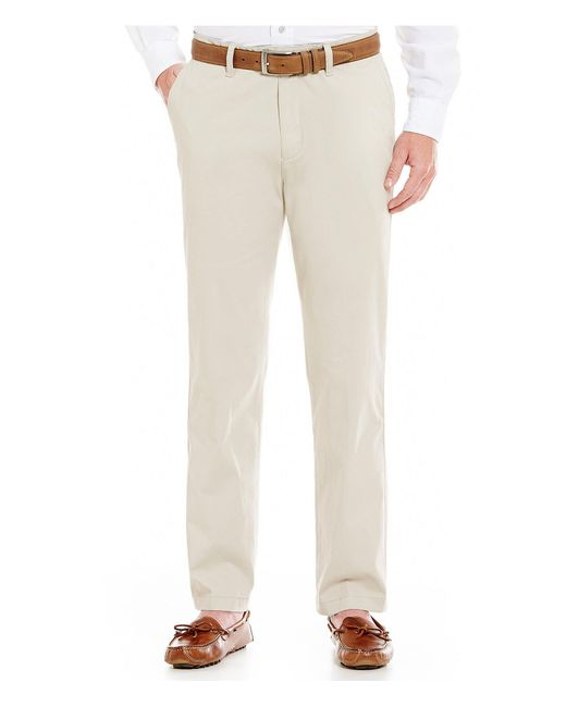 Nautica - Natural Beacon Modern Stretch Flat-front Pants for Men - Lyst