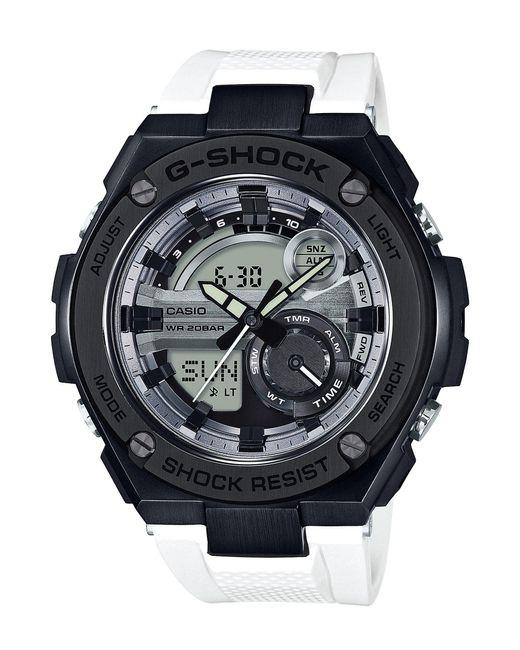 G-Shock - G-steel Black And White Ana-digi Watch for Men - Lyst