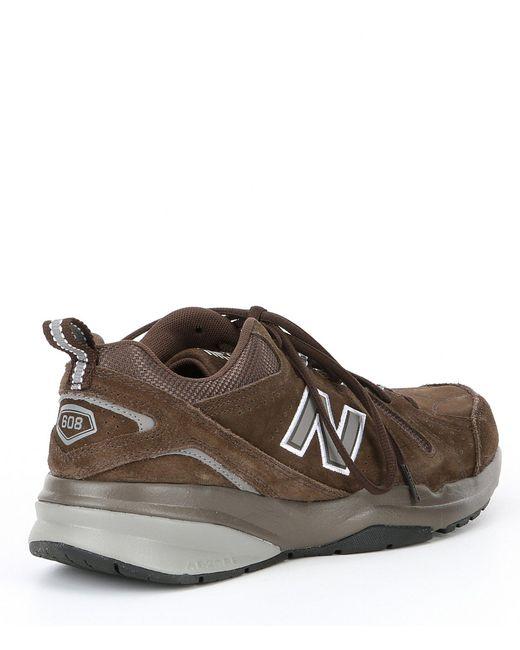 2e31e4bf3341 Lyst - New Balance Men s 608 V5 Training Shoe in Brown for Men