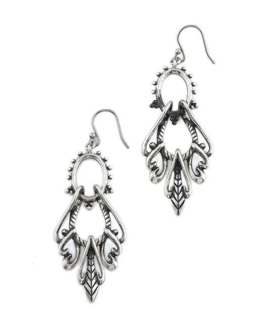 Lucky Brand | Metallic Silver Swing Earrings | Lyst