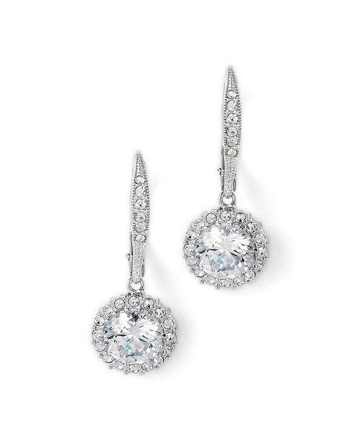 Nadri | Metallic Crystal Drop Earrings | Lyst