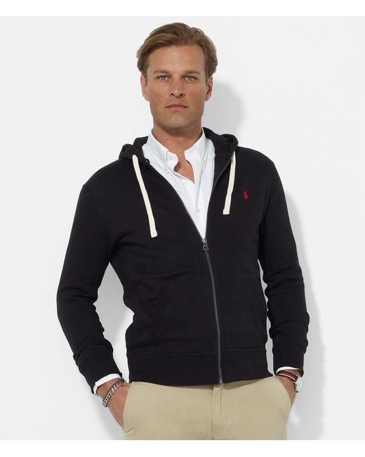 polo ralph lauren classic solid fleece hoodie jacket in. Black Bedroom Furniture Sets. Home Design Ideas
