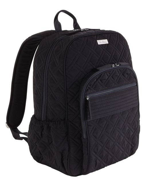 Vera Bradley Quilted Campus Backpack In Black Lyst