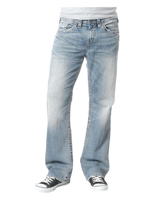 Mens Silver Jeans Gordie