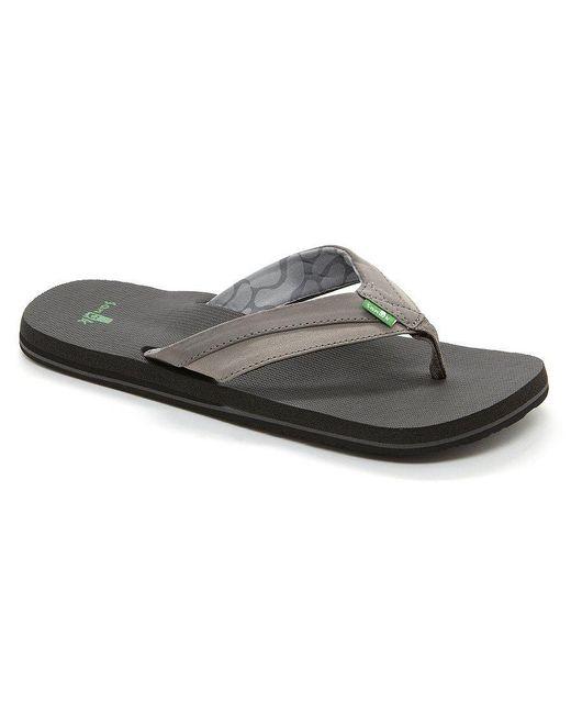Sanuk | Black Men's Beer Cozy Light Flip Flop Sandals for Men | Lyst