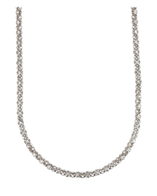 Anne Klein | Metallic Long Pavé Crystal Necklace | Lyst