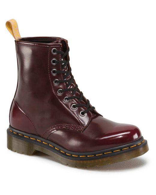 Dr Martens Vegan 1460 Combat Boots In Brown Lyst