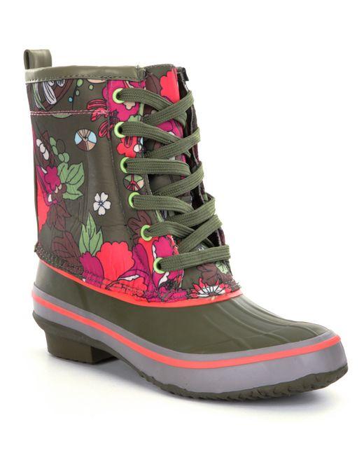 The Sak   Green Duet Duck Rain Boots   Lyst